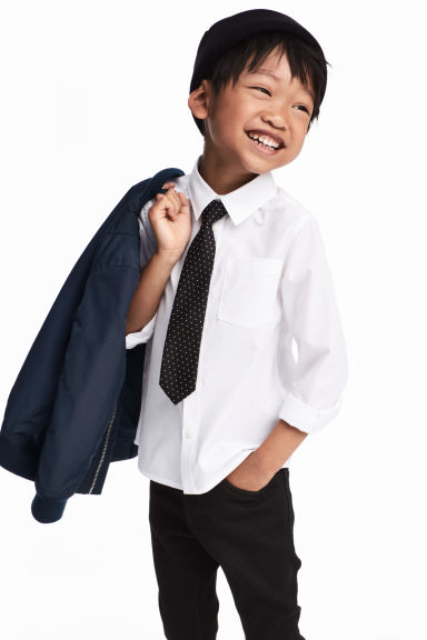 Shirt with a tie/bow tie - White/Tie - Kids | H&M