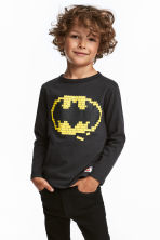 2-pack jersey tops - Light grey/Batman - Kids | H&M 1