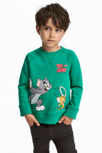 Camisola sweat com estampado - Branco/Tom e Jerry -  | H&M PT 1