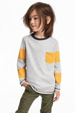 Long-sleeved T-shirt - Yellow -  | H&M 1