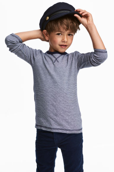 2件入平紋上衣 - Dark blue/White - Kids | H&M 1