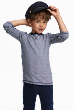2-pack jersey tops - Dark blue/White - Kids | H&M CN 1