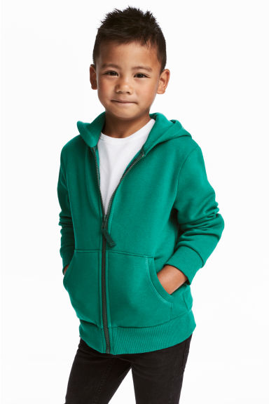 Hooded jacket - Green -  | H&M CN