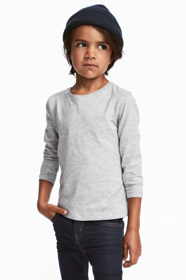 3-pack long-sleeved T-shirts - Dark blue -  | H&M CN 1