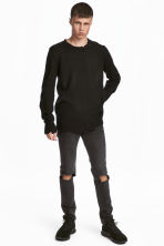 Super Skinny Trashed Jeans - Dark grey washed out - Men | H&M 1
