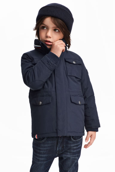 Padded jacket - Dark blue -  | H&M 1