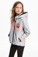 Hooded softshell jacket - Grey marl -  | H&M 1
