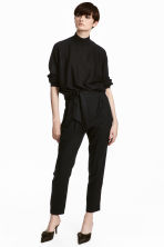 Trousers Loose fit - Black - Ladies | H&M 1