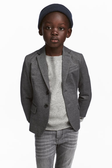 Textured-weave jacket Model