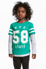 Jersey top - Green/NYC - Kids | H&M 1