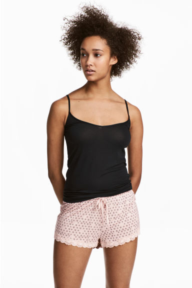 2-pack pyjama shorts - Light grey/Floral - Ladies | H&M