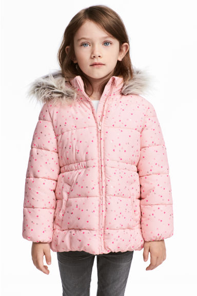 Padded jacket - Light pink/Hearts - Kids | H&M