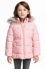Padded Jacket - Light pink/hearts - Kids | H&M CA 1