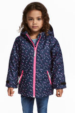 Outdoor jacket - Dark blue/Hearts - Kids | H&M 1