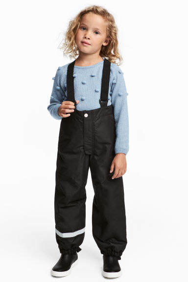 Outdoor Pants with Suspenders - Black - Kids | H&M CA