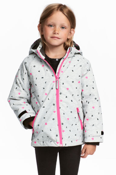 Outdoor jacket - Light Grey/Love - Kids | H&M 1