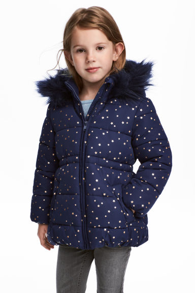 Padded jacket - Dark blue/Stars - Kids | H&M 1