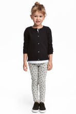 Patterned denim leggings - Light grey/Stars - Kids | H&M CN 1
