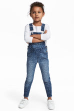 Denim dungarees - Denim blue/Leopard print -  | H&M CA 1