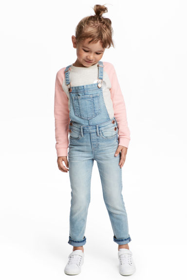 Denim dungarees - Light denim blue - Kids | H&M