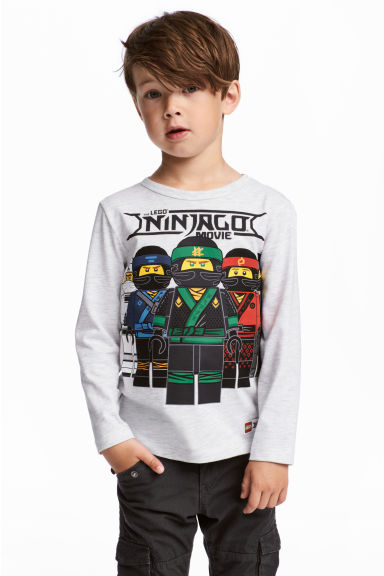 2-pack jersey tops - Light grey/Ninjago - Kids | H&M