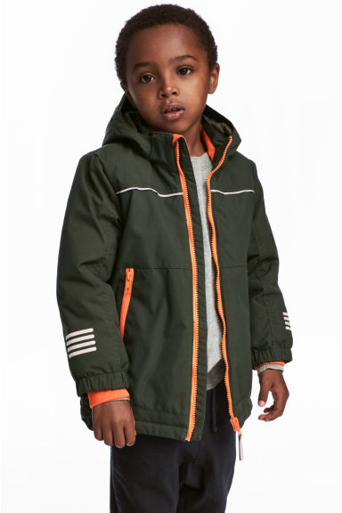 Padded outdoor jacket - Khaki green - Kids | H&M 1