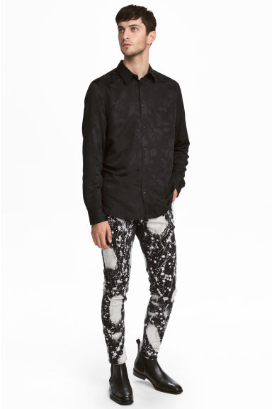 Bleached jeans - Black/Acid - Men | H&M