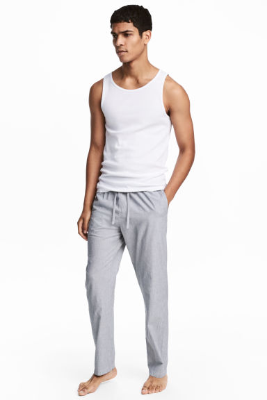 Pyjama bottoms - White/Grey striped - Men | H&M GB