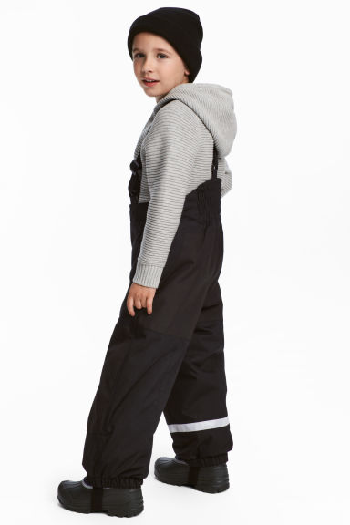 Outdoor trousers with braces - Black -  | H&M