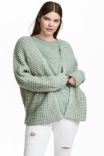 Knitted cardigan - Turquoise - Ladies | H&M CN 1