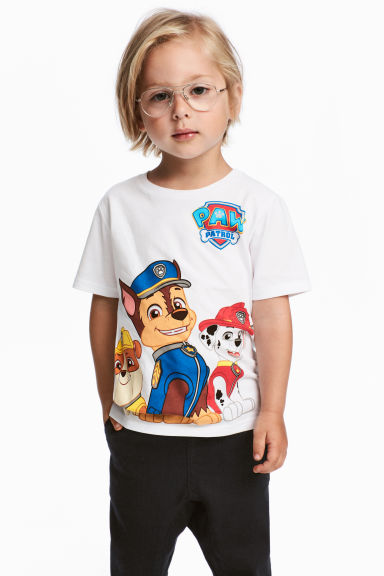 Set van 2 T-shirts - Wit/Paw Patrol - KINDEREN | H&M BE 1