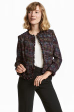 Short jacket - Black/Multicolored - Ladies | H&M CN 1