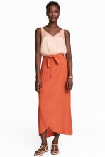 Long wrapover skirt - Orange - Ladies | H&M 1