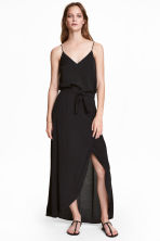 Long wrapover skirt - Black - Ladies | H&M 1