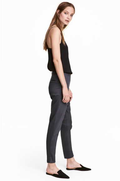 Tailored trousers - Dark grey-blue - Ladies | H&M IE