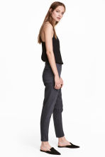 Tailored trousers - Dark grey-blue - Ladies | H&M CN 1