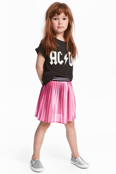 Shimmering metallic skirt - Cerise - Kids | H&M 1