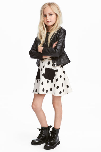 Sweatshirt skirt - White/Spotted - Kids | H&M CA 1