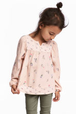 Patterned blouse - Powder pink - Kids | H&M CN 1