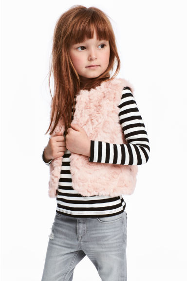 Faux fur gilet - Powder pink - Kids | H&M CN 1