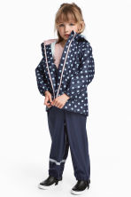 Rain Pants with Suspenders - Dark blue - Kids | H&M CA 1