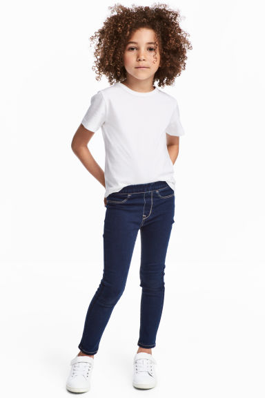 丹寧內搭褲 - Dark denim blue - Kids | H&M 1