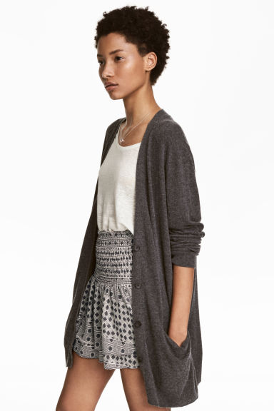 Wool-blend Cardigan Model
