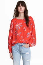 Patterned blouse - Red/Patterned - Ladies | H&M IE 1