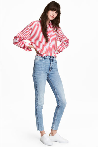 Slim Ankle High Jeans - Bleu denim clair - FEMME | H&M FR