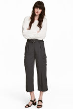 Ankle-length cargo trousers - Dark grey - Ladies | H&M 1