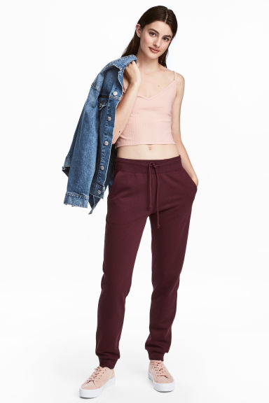 Sweatpants - Burgundy - Ladies | H&M CN 1