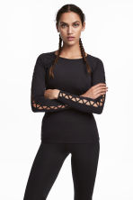 Running top - Black - Ladies | H&M 1