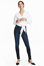 Shaping Skinny Regular Jeans - Dark denim blue rugged rinse - Ladies | H&M 1