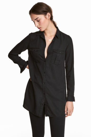 Long shirt - Black - Ladies | H&M